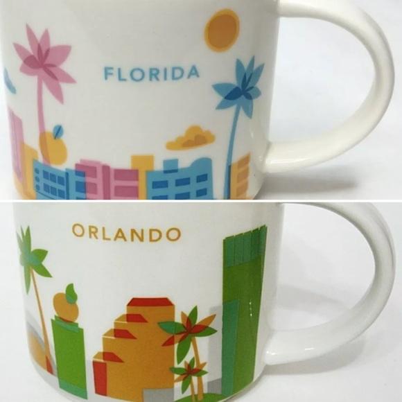 "Starbucks ""Florida""&""Orlando"" YAH collectors Mugs"
